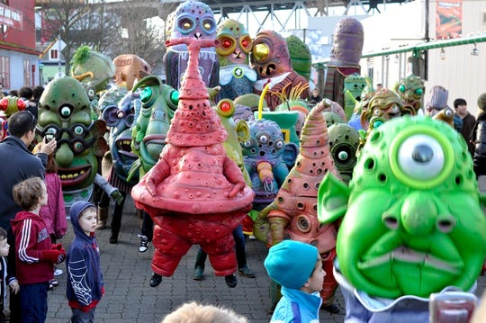 Big Nazo will lead a scaled-down parade on the Church Street Marketplace as part of Saturday's Mardi Gras festivities.