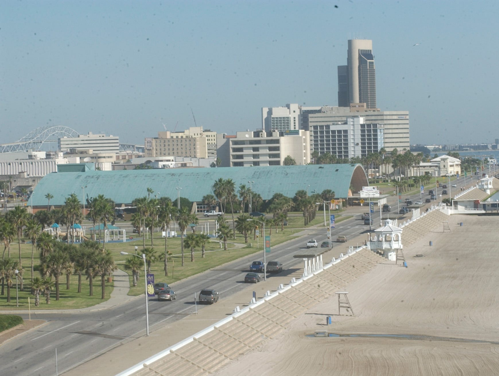 McGee Beach and the bayfront in downtown Corpus Christi in 2003.
