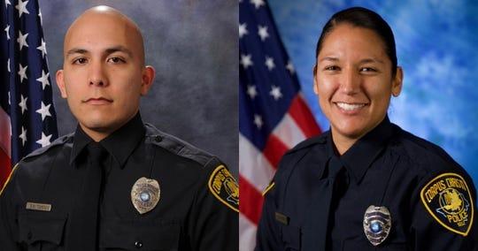 Senior Officer Gilbert Cantu and Officer Jacqueline DeLeon