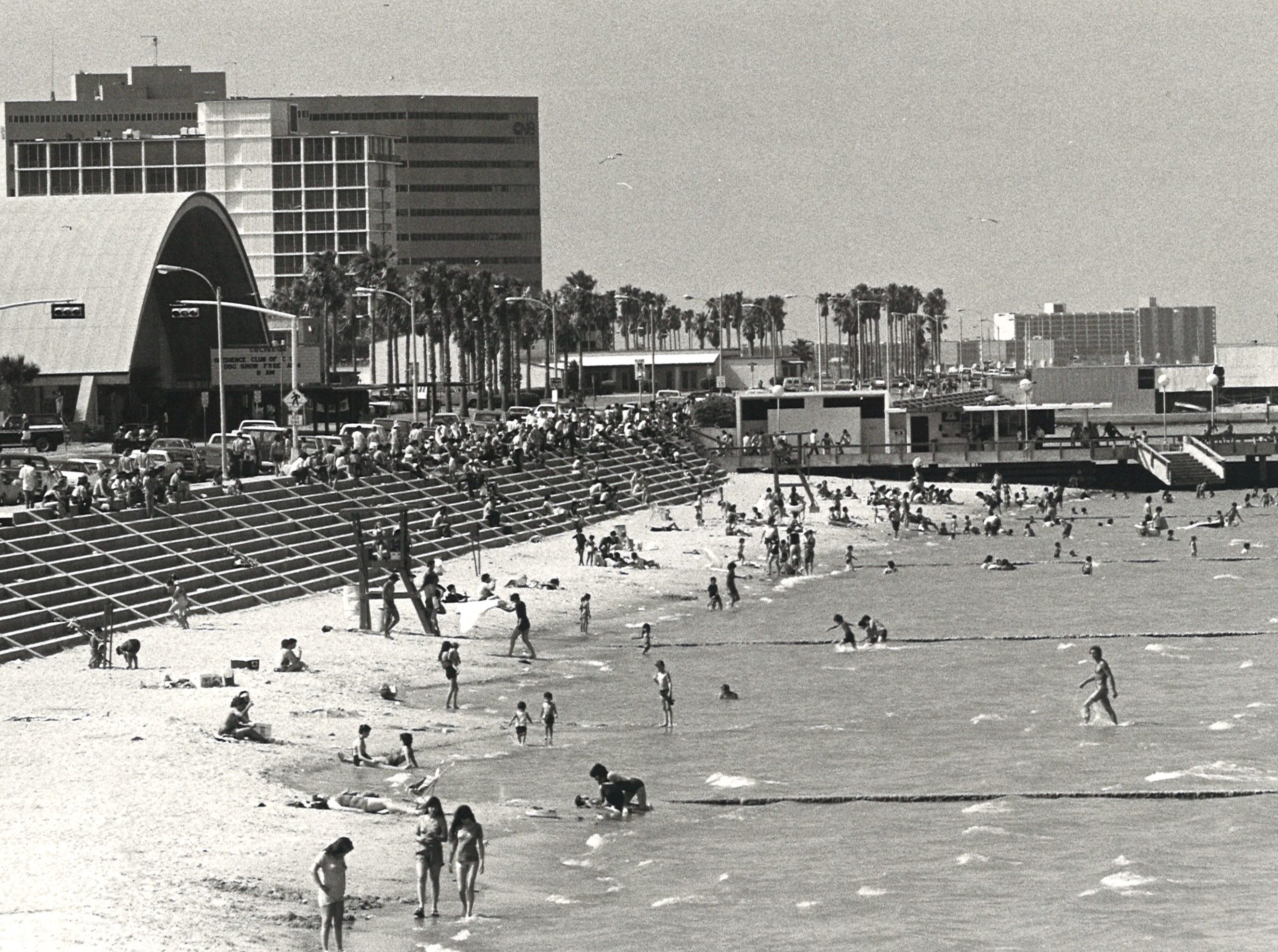 McGee Beach in downtown Corpus Christi on June 13, 1982.