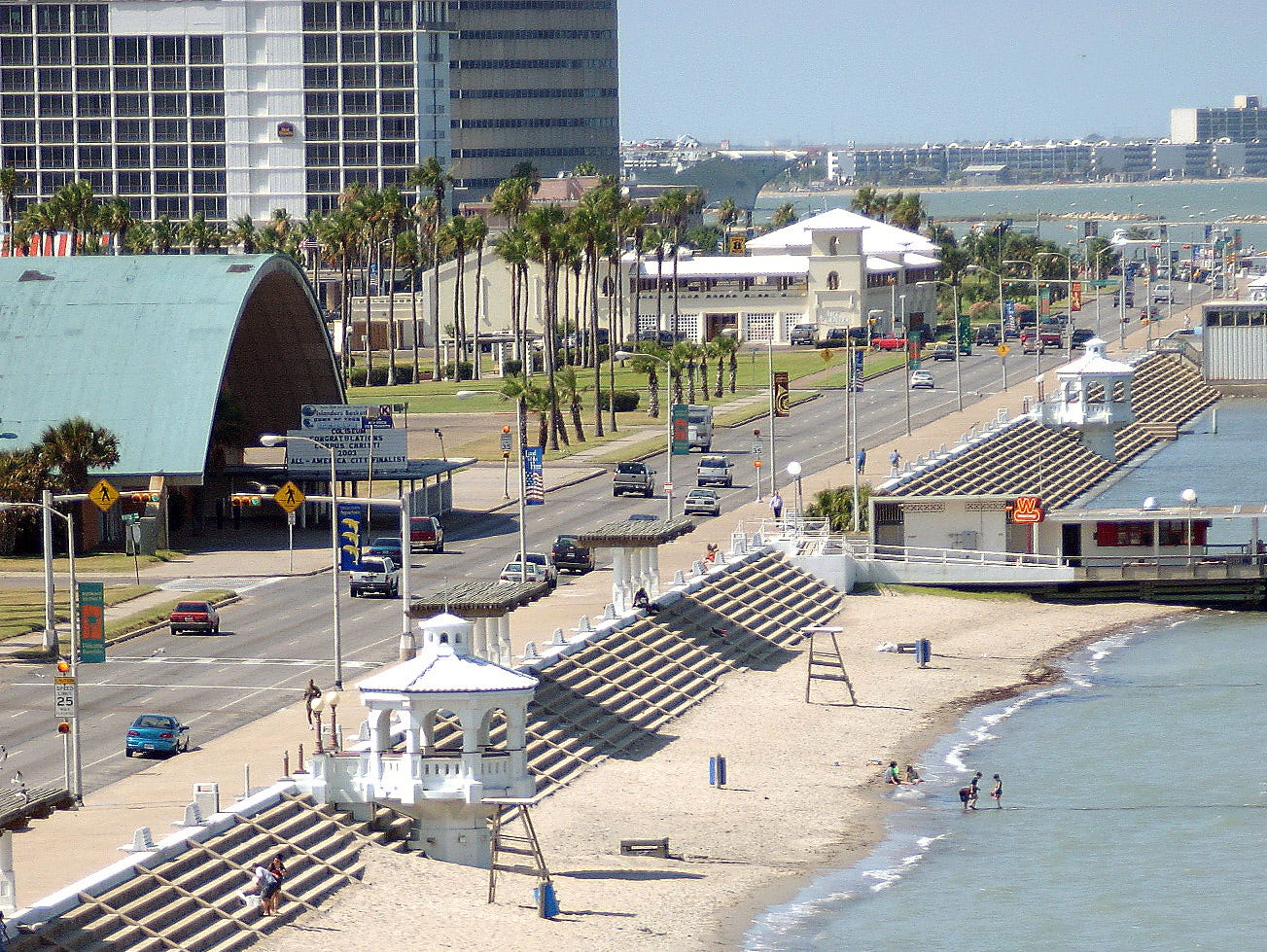 McGee Beach in downtown Corpus Christi shortly before enhancement projects began in June 2003.