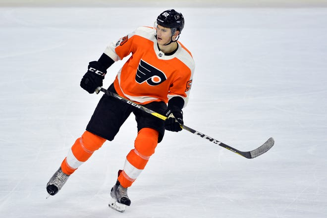 Samuel Morin was in the lineup for the Flyers Wednesday against the Toronto Maple Leafs. Due to multiple injuries, including a torn ACL, he hadn't played in the NHL since November of 2017.