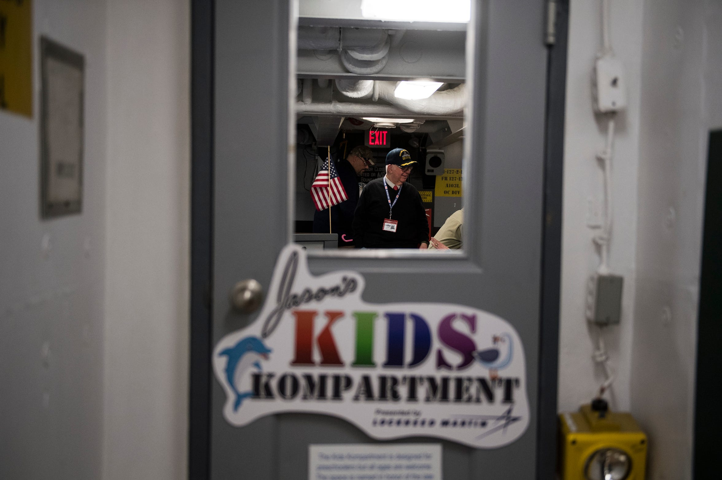 A peek into the entrance to the newly opened Jason's Kids Kompartment aboard the USS New Jersey battleship in Camden.
