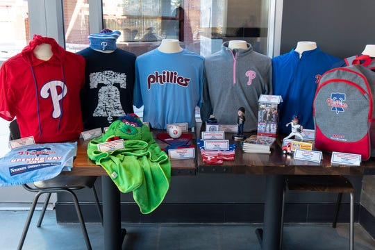 """Gear up for the season. The New Era Phillies team store is the only place all starting player jerseys are sold, per management. There's also the """"largest cap wall in the country."""""""