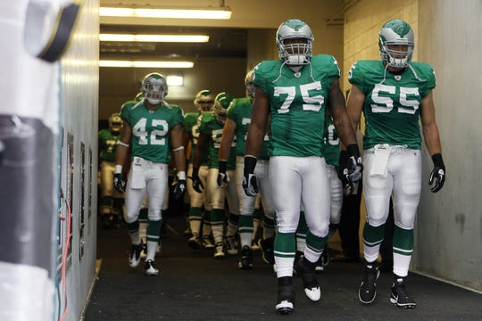The last time the Eagles wore Kelly green uniforms was the season opener in 2010 against the Green Bay Packers.