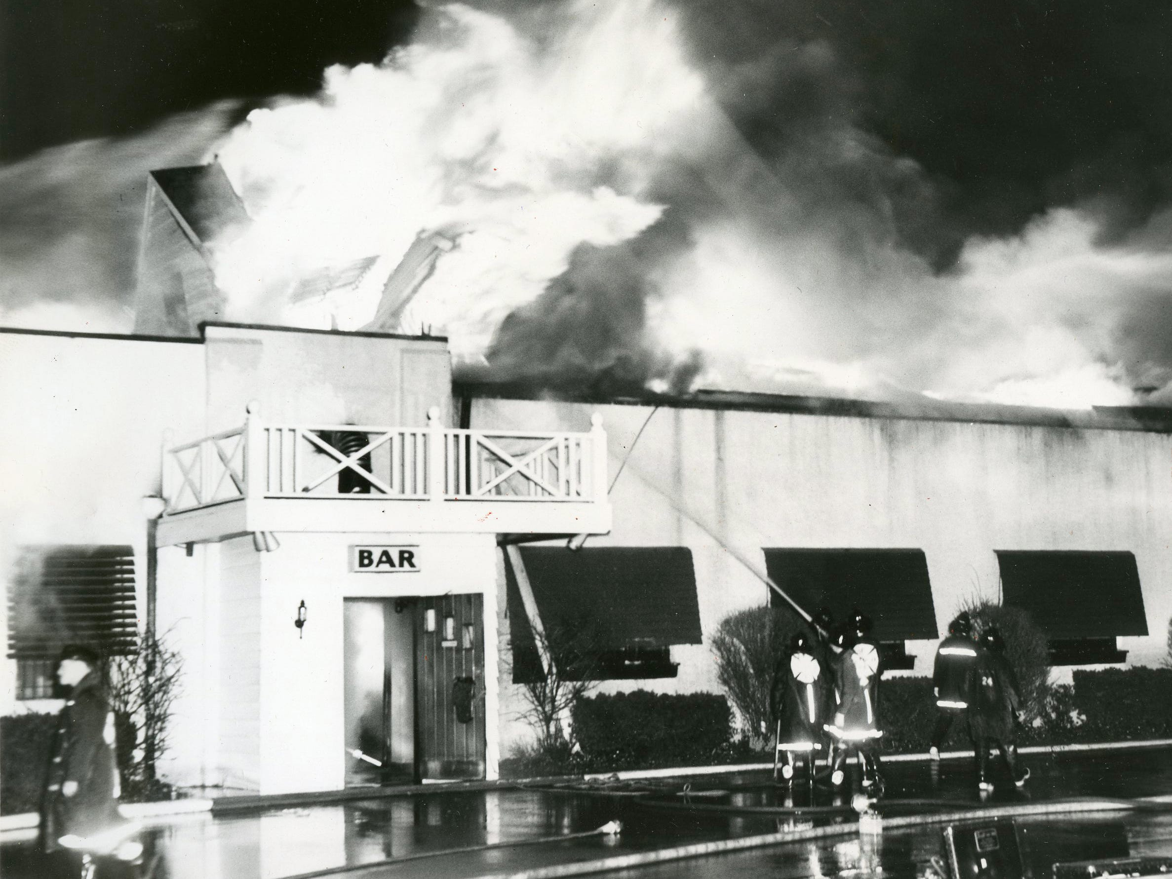 A 1962 fire  destroyed the original building of The Pub in Pennsauken.   Seven hundred customers filed out of the restaurant after the manager announced danger.  No one was injured but one fireman was treated for smoke inhalation.    The Pub was later rebuilt on the same site.