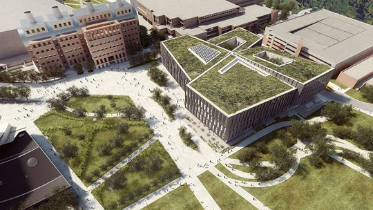 A rendering of the new $120 million Carl H. Lindner College of Business at the University of Cincinnati.