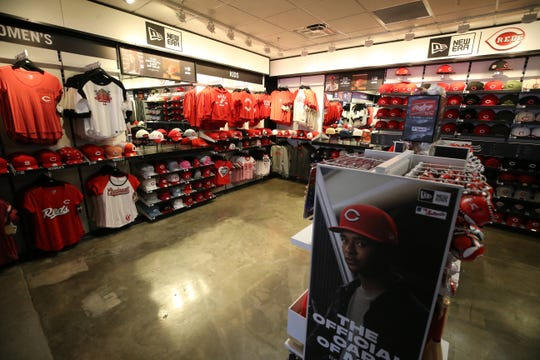 A new New Era team store will open  along the first base line on the Terrace Level, Wednesday, March 27, 2019, at Great American Ball Park in Cincinnati.