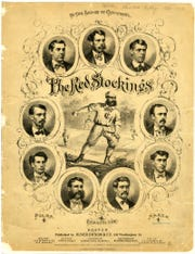 The Cincinnati Red Stockings of 1869 weren't the first baseball team, but their players were the first to be openly paid. Local businessmen bankrolled the club and top players made more than $1,000.
