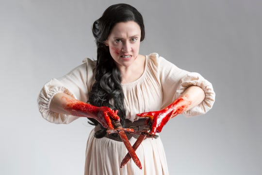 """Kelly Mengelkoch stars as Lady Macbeth in Cincinnati Shakespeare Company's production of """"Macbeth,"""" which runs April 5-May 4. It is one of William Shakespeare's best-known plays. But the play is wreathed in so much superstition that actors are loath to say the name while they are in a theater. Instead, they are more likely to call it """"The Scottish Play."""""""