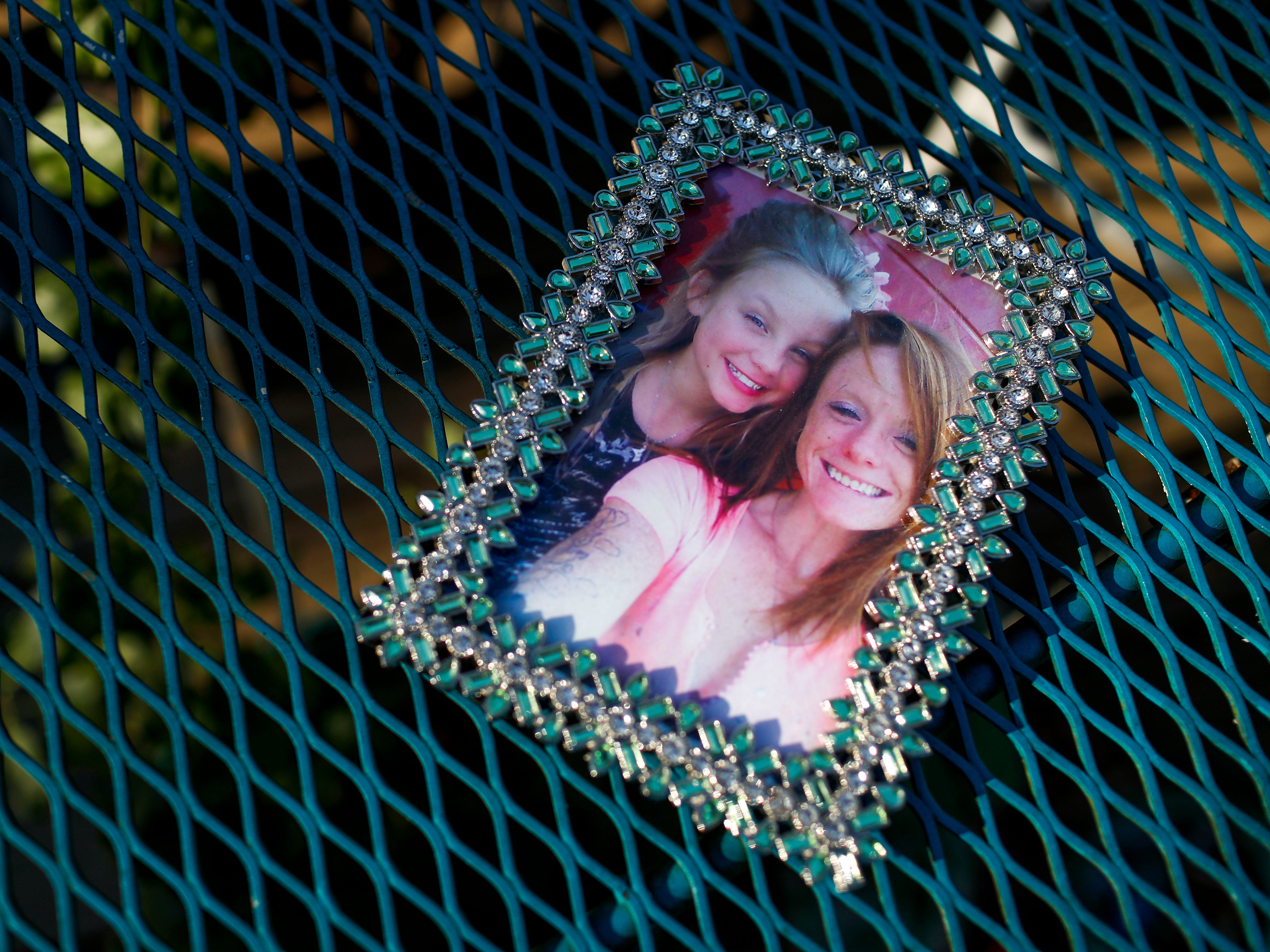 Photos of Natalie Lyle, daughter of Lacie Sloan, who as a middle schooler took her own life, at the Lindsay residence in Clarksville, Tenn., on Friday, March 22, 2019.