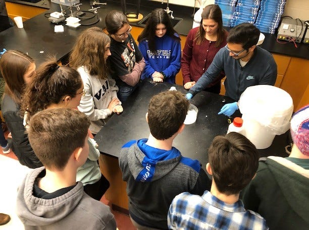 High school students spend a recent Saturday in Citizen Science at Westfield High School, a monthly offering from October to May of scientific enrichment within all fields related to science.