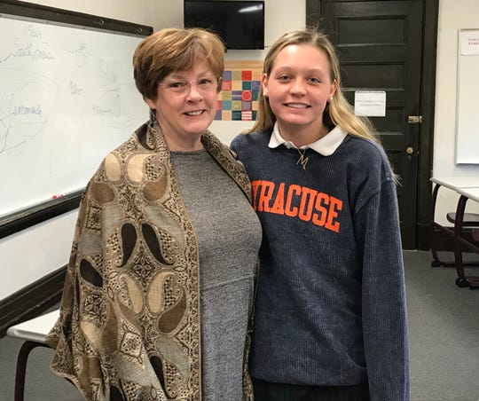 Alicia Iacono, department of Social Studies chairperson at Mount Saint Mary Academy, and Michaela Walsh of Basking Ridge.
