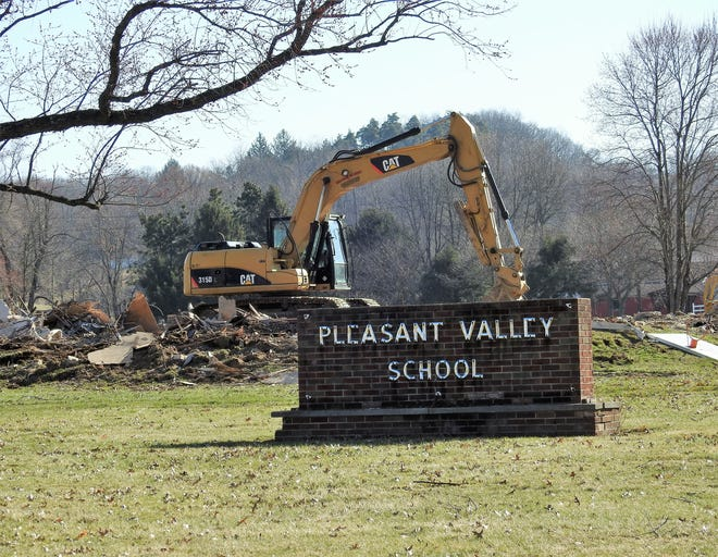 Pleasant Valley School was razed this week by owner William Albert. He has no plans for the land at this time.
