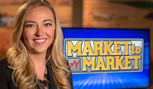 "Delaney Howell began hosting ""Market to Market"" in 2018."