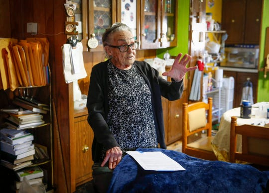 "Arletta Swain, 91, a resident of the Midwest Country Estates mobile home park in Waukee, a new company's intention to raise monthly rents by more than $200 beginning this summer will ""take me right down to my last dollar."""