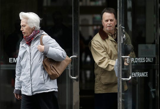 Edwin Hardeman, right, leaves a federal courthouse on Feb. 25 with his wife, Mary, in San Francisco. A jury in federal court in San Francisco ruled that Roundup weed killer was a substantial factor in the California man's cancer. The unanimous verdict in the case of 70-year Edwin Hardeman on Tuesday, March 19, came in a trial that plaintiffs' attorneys said could help determine the fate of hundreds of similar lawsuits against Roundup's manufacturer, agribusiness giant Monsanto.