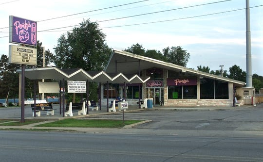 The unique building that housed Porky's Diner, pictured here in 2000, was razed in 2009.
