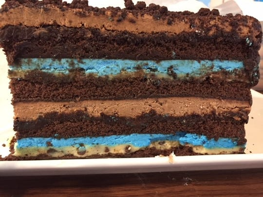 The Kookie Monster Dream Cake is one of the over-the-top desserts being offered at Treat Dreams Dessert Emporium in Ferndale.