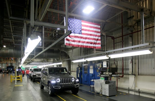 A Jeep Wrangler rolls off the production line at the Toledo North Assembly Plant in Toledo in November. Fiat Chrysler has a reputation for producing capable off-road vehicles, such as the Jeep Wrangler, but has also struggled with longstanding concerns about quality.