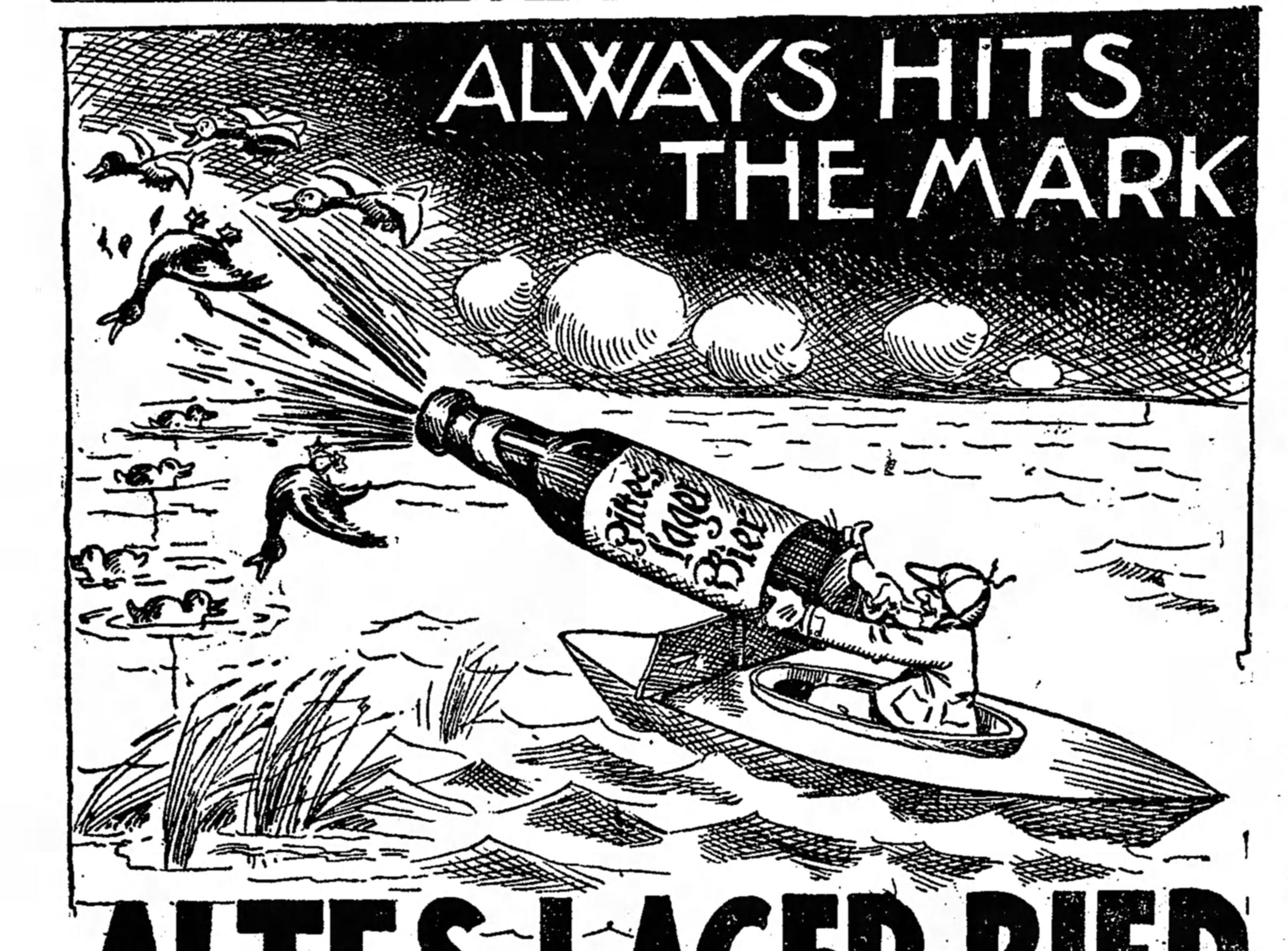 An ad for Altes Lager published in the Free Press on Oct. 12, 1910.