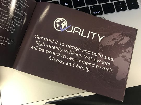 FCA/Quality pamphlet to promote their  emphasis on quality.