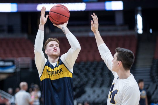 Ignas Brazdeikis was Michigan's leading scorer at 14.8 points per game as a freshman this season.