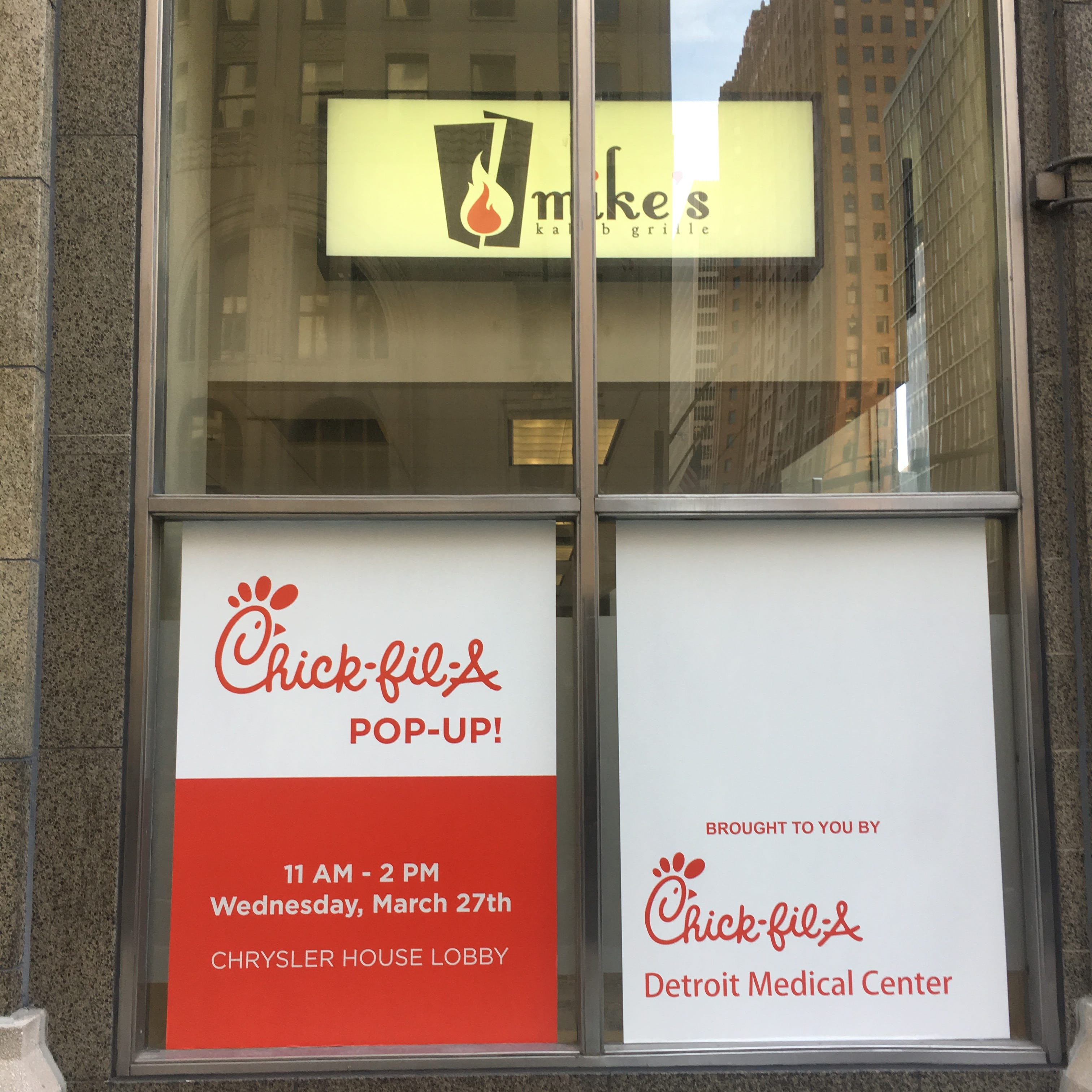 Chick-fil-A opens pop-up in downtown Detroit for 1 day only today