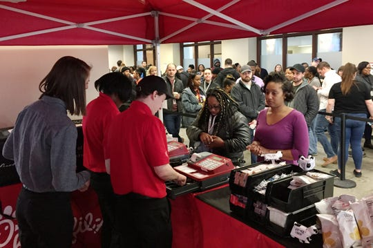 Chick-fil-A opened a pop-up location from 11 a.m.-2 p.m. inside the Chrysler House on Wednesday, March 27, 2019.