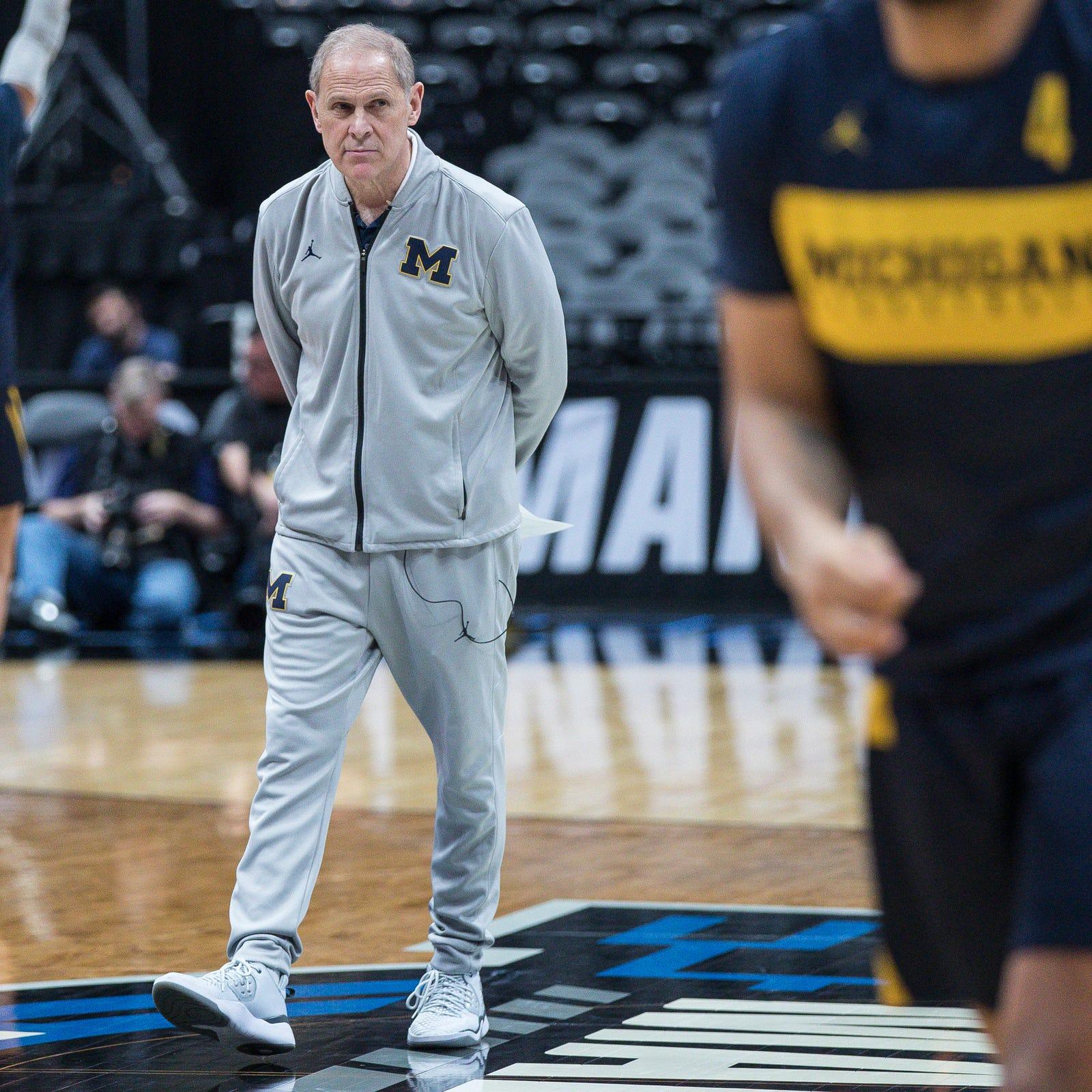 Michigan basketball head coach John Beilein...
