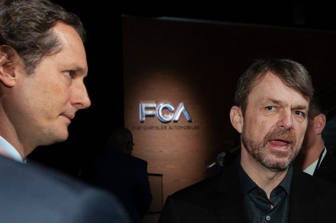 Fiat Chrysler Automobiles NV Chairman John Elkann, left, and CEO Mike Manley now are proposing a 50-50 merger with Renault SA of France. The deal, which could take a year to complete, would create the world's No. 3 automaker.