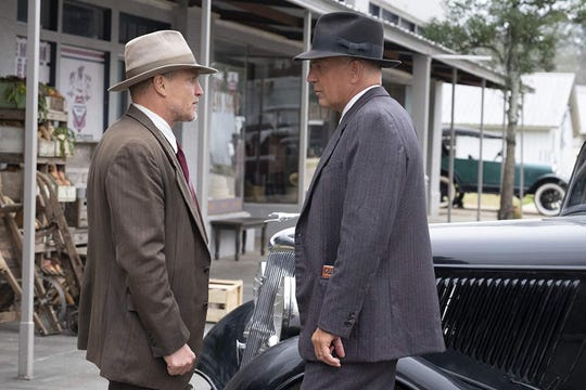 """Woody Harrelson and Kevin Costner in """"The Highwaymen."""""""