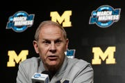 Michigan head coach John Beilein speaks during a news conference.
