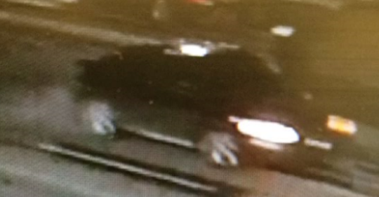 The suspects were seen fleeing in a four-door small dark-colored vehicle.
