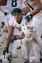 Cody White, a junior from Walled Lake Western, will move into the No. 1 wide receiver role with Felton Davis graduated.