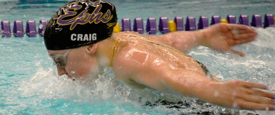Elmira Notre Dame graduate Molly Craig competes for Williams College in 2018.