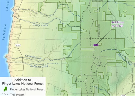 An additional 11 acres has been added to the Finger Lakes National Forest in Schuyler County.