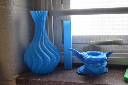 These are just a few of the objects the students created using the 3D printer they built themselves.