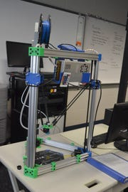 Last year's third year STEM students utilized the skills they learned in class to build this 3D printer from scratch.