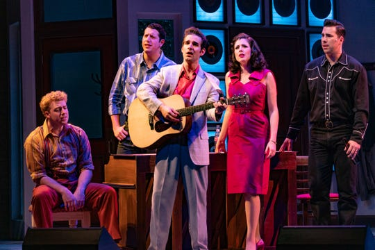 "The cast of Florida Rep's ""Million Dollar Quartet"""