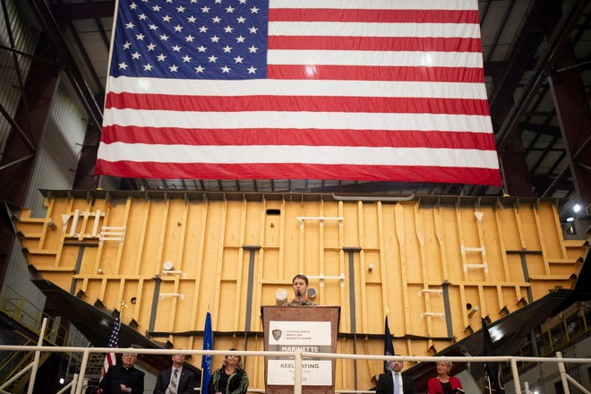 Dignitaries on Wednesday celebrated the start of construction of the USS Marinette, a U.S. Navy littoral combat ship, at Fincantieri Marinette Marine in Marinette.