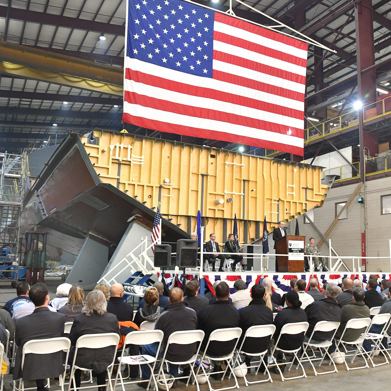 Marinette Marine's final U.S. Navy frigate will carry city's name