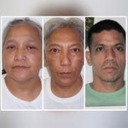 From left, Veronica Untalan, Maria Untalan and Nathan Borja are shown in this combined photo