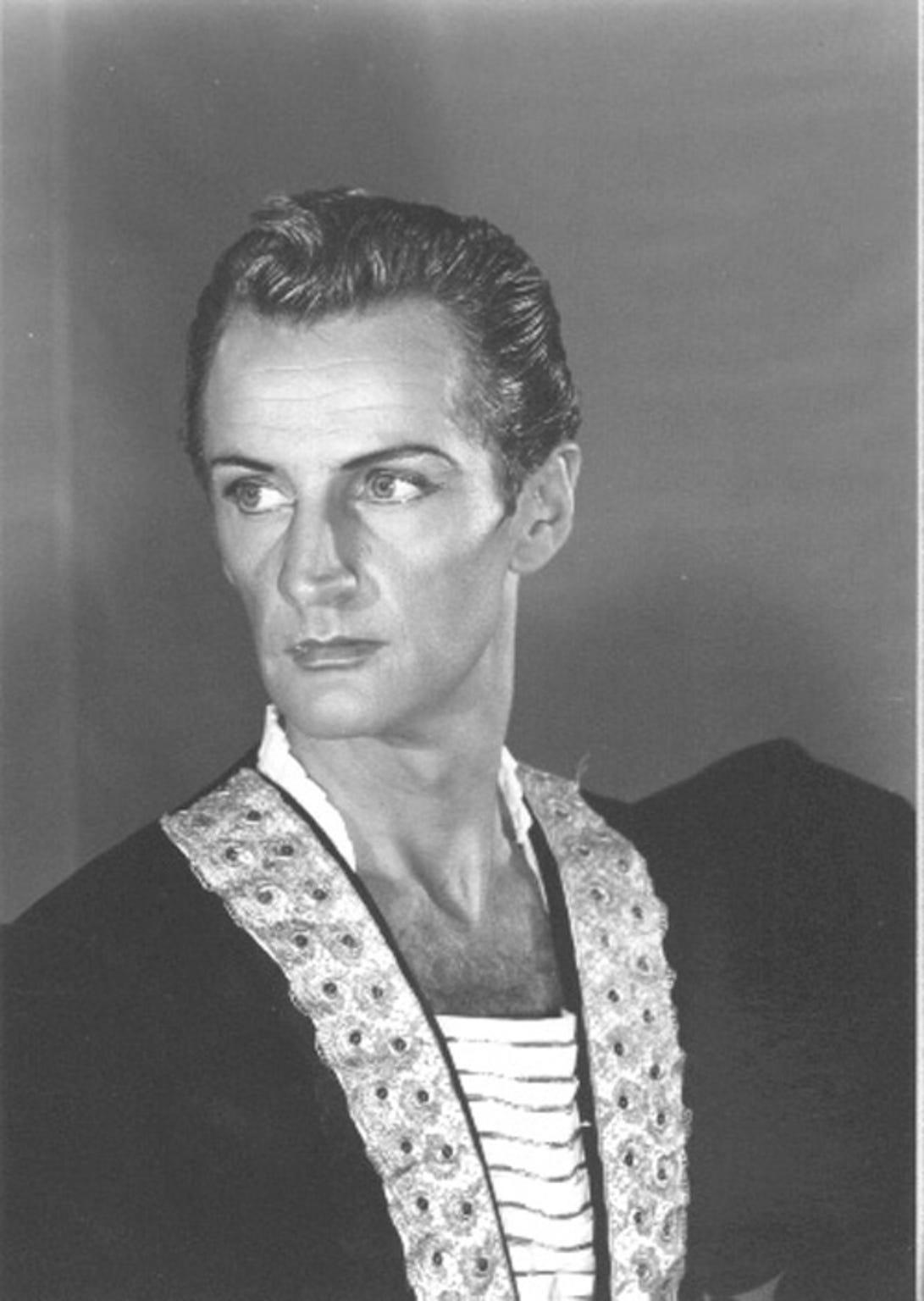 Dancer Henry Danton in an early publicity still.