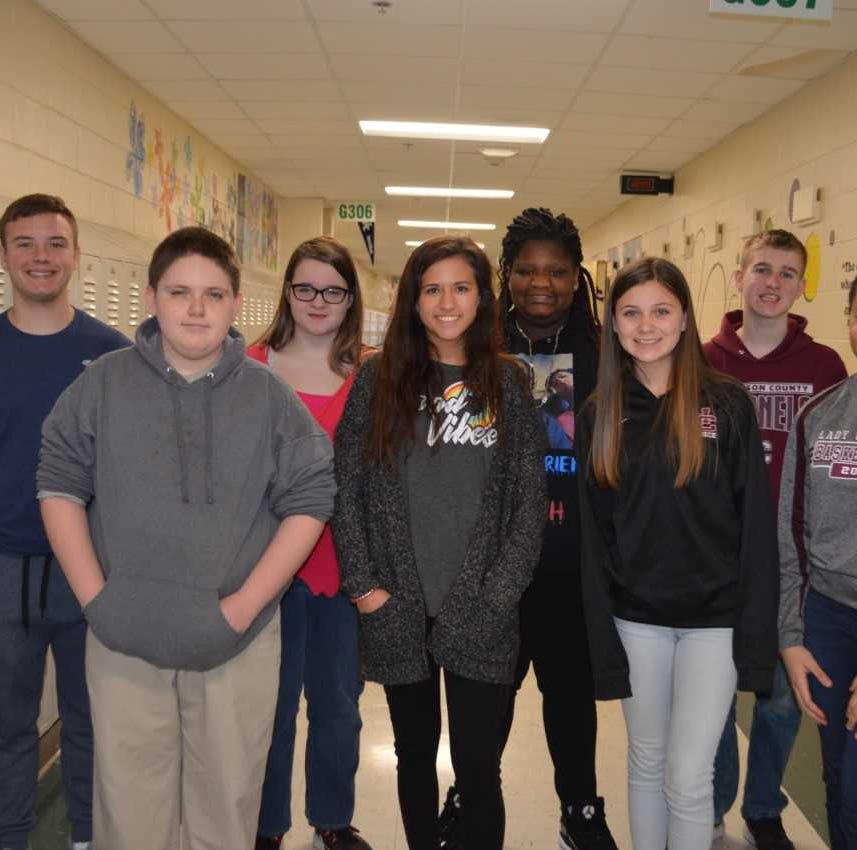 HCHS March 2019 students of the month