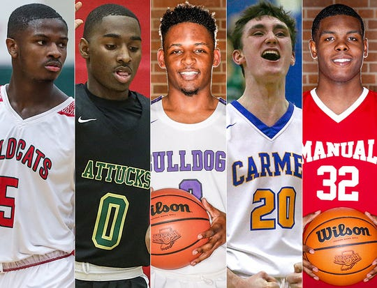 Left to right: Jared Hankins, Harold Bennett, Cameron Alford, Andrew Owens and Jalen Johnson.