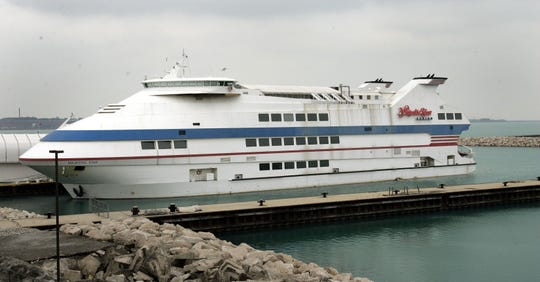 This is the Majestic Star Casino boat at Buffington Harbor, one of two casinos being sought by Spectacle Entertainment.
