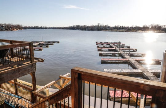 The Boathouse Kitchen & Swan Dive on Morse Reservoir in Cicero features boat slips and lakefront dining.