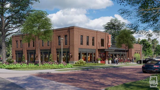Half Shell Oyster House is planned to open in the Village at Madison, a newly announced development. This is a rendering of the future location.