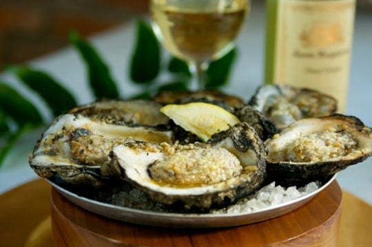 Oysters on the half shell are available at Half Shell Oyster House.